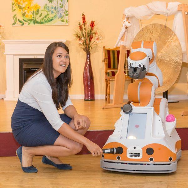 Assistant robot Lio presents himself