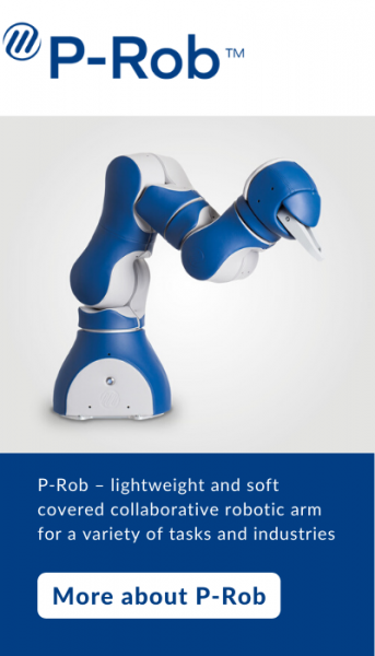 P-Rob - lightweight and soft covered collaborative robotic arm for a variety of tasks and industries