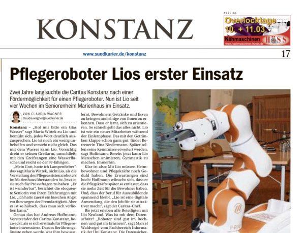 Pflegeroboter Lios erster Einsatz