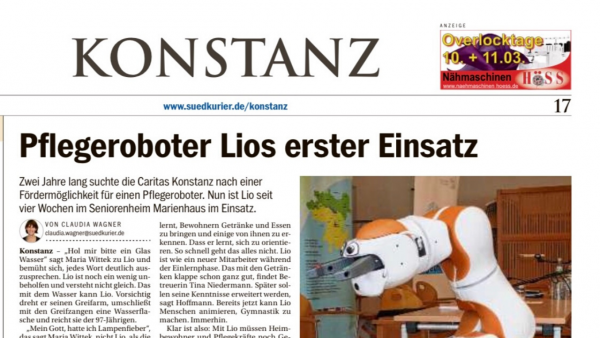 Lio in Elderly Care Home Caritas, Konstanz