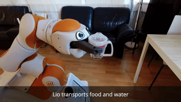 Lio delivers food and water