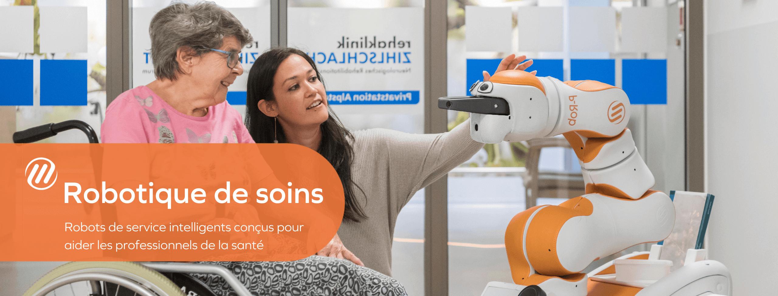 Robotique de soins - Robots de service intelligents conçus pour aider les professionnels de la santé