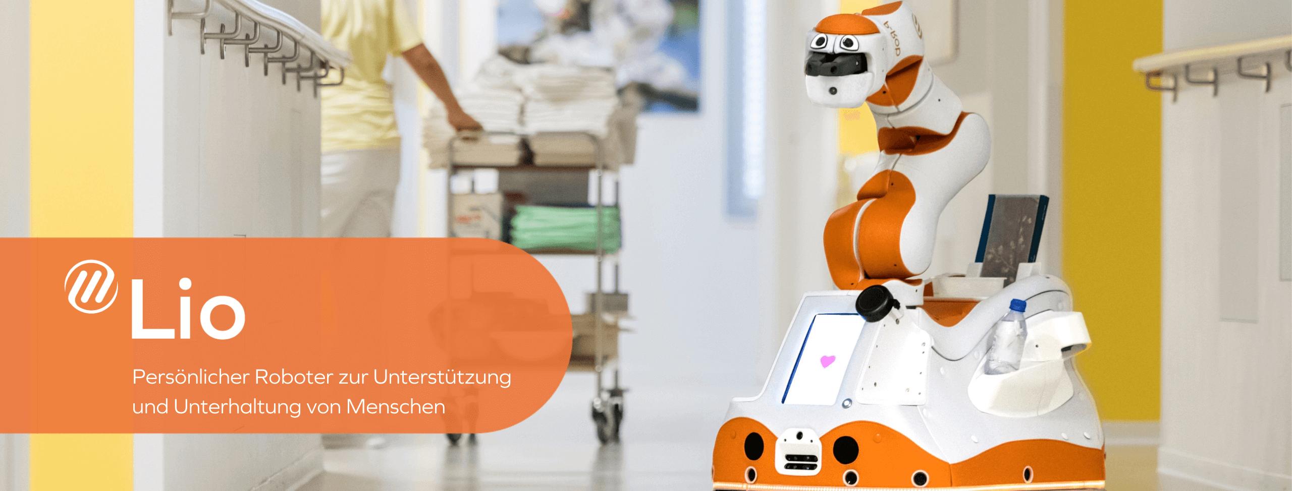 Lio - Persönlicher Roboter zur Unterstützung und Unterhaltung von Menschen