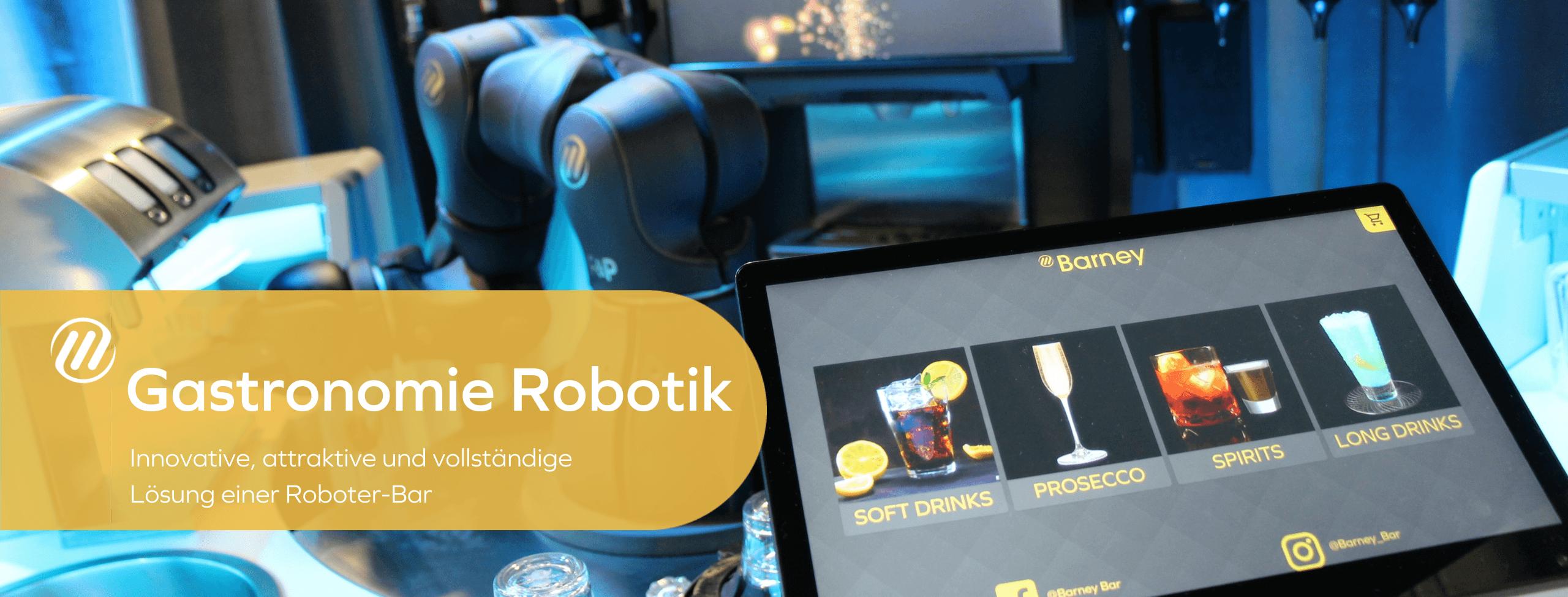 Gastronomie Robotik - Innovative, attraktive und vollständige Lösung einer Roboter-Bar