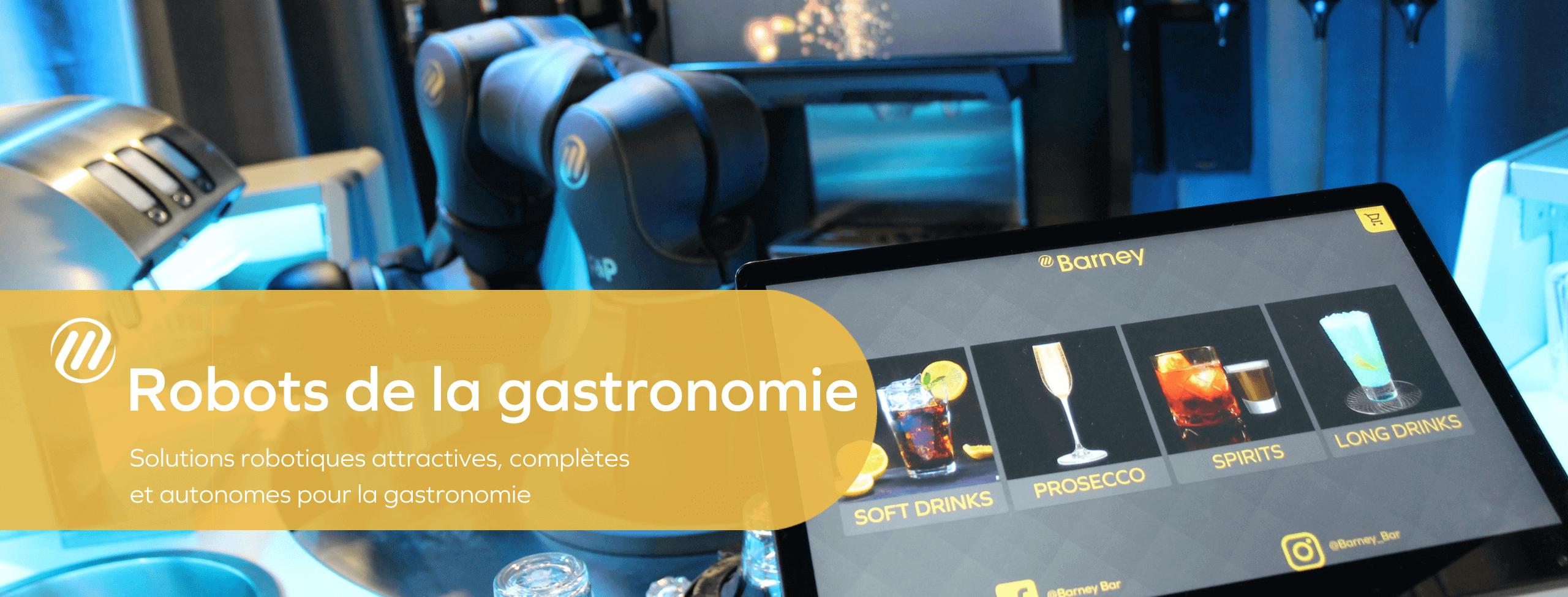 Robots de la gastronomie - Solutions robotiques attractives, complètes et autonomes pour la gastronomie