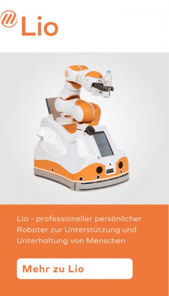 Lio - professioneller persönlicher Roboter zur Unterstützung und Unterhaltung von Menschen