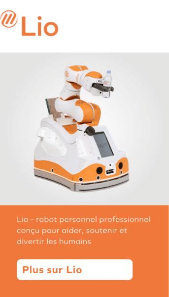 Lio - robot personnel professionnel conçu pour aider, soutenir et divertir les humains
