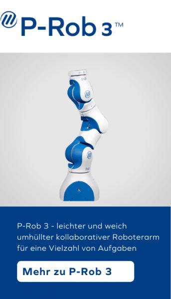 P-Rob 3 - leichter und weich umhüllter kollaborativer Roboterarm für eine Vielzahl von Aufgaben