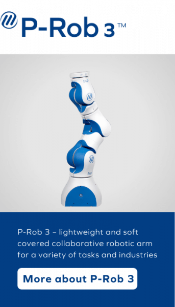 P-Rob 3 - lightweight and soft covered collaborative robotic arm for a variety of tasks and industries