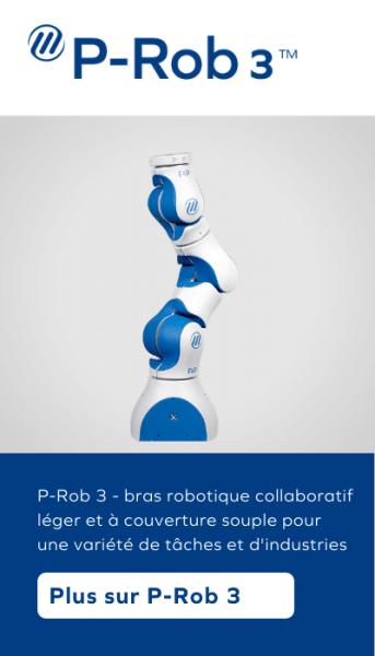 P-Rob 3 - bras robotique collaboratif léger et à couverture souple pour une variété de tâches et d'industries