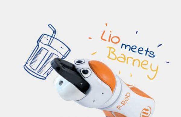 Lio meets Barney